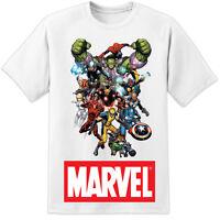 MARVEL COMICS T SHIRT IRON MAN SPIDERMAN THOR WOLVERINE SPIDERMAN (S - 3XL)