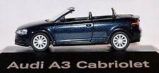 Audi A3 Cabriolet Cabrio 8P 2008-13 Tiefsee blue blue metallic 1:87
