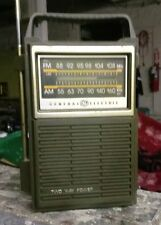 VINTAGE GENERAL ELECTRIC AM/FM TWO WAY POWER PORTABLE RADIO - MODEL 7-2808A