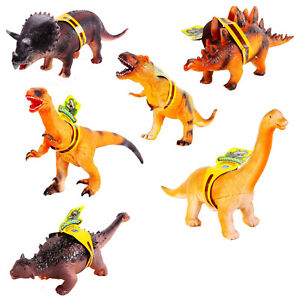 36cm Large Soft Rubber Foam Stuffed Dinosaur Toy Action Figures With Roar Sounds