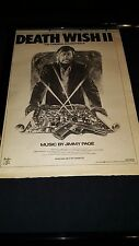 Jimmy Page Death Wish Ii Soundtrack Rare Original Uk Promo Poster Ad Framed!