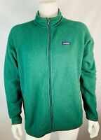 Patagonia XL Men's Jacket Zip Up Polyester Green Outdoor Athletic Coat Sweatshir