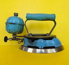 Antique Coleman Liquid Fuel Iron Enamel USA Model 4A Instant Lite Turquoise Old