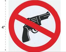 No Guns Weapons Vinyl Sticker Decal Warning Safety Sign Store Office Building