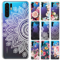 For Huawei P30 Pro P20 P Smart Plus Clear Painted Soft Silicone TPU Case Cover