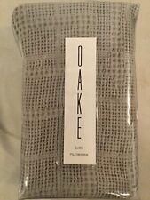 Oake Bedding Waffle Plaid Collection 100% Cotton Pillow Sham - Euro - Gray