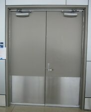 """1 Ives 16163 8400 32D 16 x 26""""  B4E Metal Door Protector Kick Plate STAINLESS"""