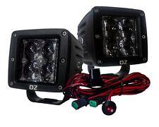 "3"" Ultra Spot Optic Lens 20w LED POD Cube Wiring Harness Switch Offroad ATV SUV"