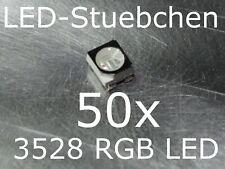 50x 3528 RGB SMD LED PLCC4 Black Face