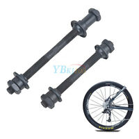 1 Pair Bike Bicycle MTB Steel Front and Back Axle Hollow Hub Portable Cycling JE
