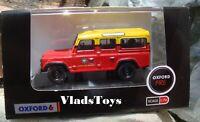 Oxford 1/76 Land Rover Defender Station Wagon London Fire Brigade 76DEF011