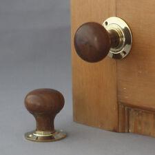 Teakholz Edwardianisch Bun Tür Griffe