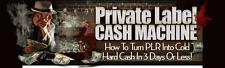 PLR Cash Machine Course Video Tutorials on 1 CD