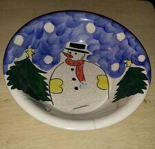 "Gibson Housewares Snowman 8.25"" China Bowl"
