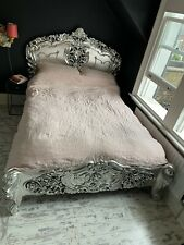 More details for silver rococo antique french double bed