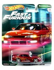 HOT WHEELS / Nissan 240SX S14 (Burgundy) - Mint on card / FAST & FURIOUS.