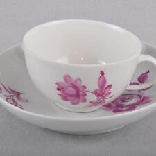 Meissen Punktzeit Sammeltasse, antike Tasse, Blume purpur, 1740 - 1780