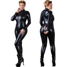 a719d72734fc Sexy Stretch 4-Way Black Wet PVC Look Jumpsuit Catsuit Party Valentine  Superhero