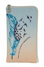 Reissverschluss Handy Tasche Etui Soft Case Schutz Hülle mit Strass oder Motiv
