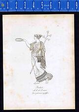 BACCHANTE w/ ROD OF SESAMUM -1809 Hope Copper Plate Engraving  -- CLEARANCE