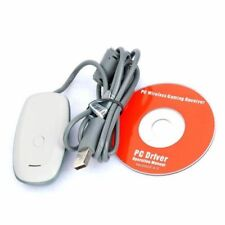 Windows PC Gaming USB Receiver for Xbox 360 Wireless Controller WHITE / BLACK