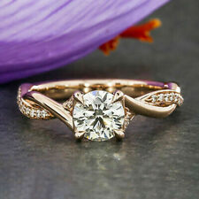 2.10Ct VVS1/D Round Cut Classic Diamond Engagement Ring Rose Sterling Silver