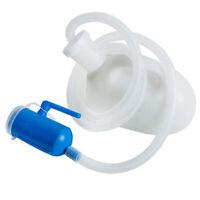 2000ml Male Urinal Pee Bottle Holder w/ Tube 22x14cm for Travel Blue White