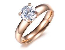 Design-Ring Rose-Gold plattiert  Damen Ringe Ring Verlobungsring Ehering