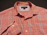 Banana Republic Mens Small Long Sleeve Button-Front Multicolor Plaid Check Shirt