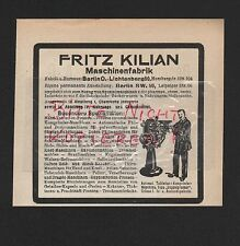 BERLIN-LICHTENBERG, Werbung 1911, Fritz Kilian Komprimier-Maschinen-Fabrik