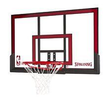 "Spalding 48"" Basketball Hoop Backboard Combo Rim Portable Outdoor Sports"