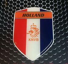 """Holland KNVB Dutch Proud Shield Domed Decal Emblem Car Sticker 3D 2.3""""x 3.3"""""""