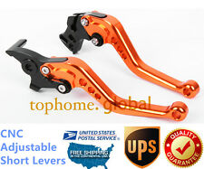 For KTM Duke / RC 125 200 390 2011-2017 Short Clutch Brake Levers CNC Orange US
