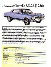 1966 Chevelle SS396 Article - Must See !!