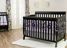 5 in 1 Convertible Baby Crib BONUS MATTRESS Toddler Full Size Nursery Bed Black