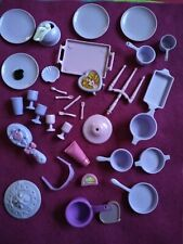 "Vintage BARBIE  ""DISHES & ACCESSORIES PURPLE LOT"""