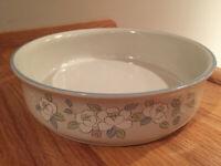 """Chantilly Fleur de Lune 9"""" Stoneware Round Vegetable Serving Bowl  VINTAGE MINT"""