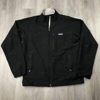 Patagonia Soft Shell Full Zip Outdoor Hiking Jacket Mens Medium M Black