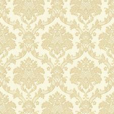 Exclusive Italian Silks Cream Gold Damask Vinyl Wallpaper (IS11002)