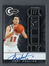 2010-11 Totally Certified Jersey Autograph Andy Rautins RC 95/599 Knicks B99 393