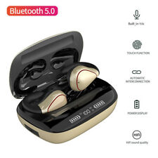Universal Bluetooth Wireless Headset Earphones Touch Control Earpiece with Mic