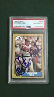 Carlton Fisk 1987 Topps #756 Signed White Sox HOF Autographed Authentic PSA/DNA