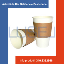 PZ 300 BICCHIERE ML 370 BIANCO PER CAFFE' THE HOT + STRISCE IN CARTONE TERMICO