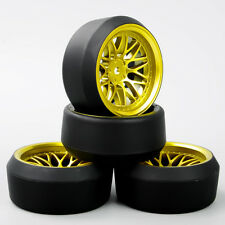 4Pcs 5° Drift Tires&Wheel Rim BBG For HSP HPI RC 1:10 On-Road Racing Car