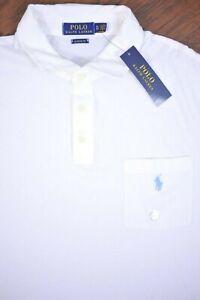 NWT Polo Ralph Lauren Pocket Polo Shirt White Men's XL