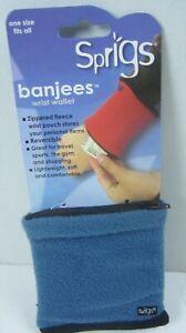 Sprigs Banjees 2 Pocket Wrist Wallet Fleece For Running Hiking One Size