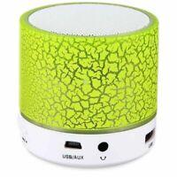 Portable Wireless Bluetooth Speaker LED Light Waterproof Subwoofer Music Speaker