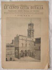 1899 CENTO CITTA D'ITALIA PIENZA SIENA 26 INCISIONI