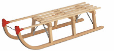DAVOS Traditional Wooden Timber Sledge 110cm