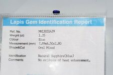 $1,250 1.35CT LAPIS GEM CERTIFIED NATURAL NO HEAT LOOSE SAPPHIRE GEMSTONE